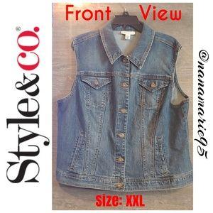 🆕WOT! Style & Co. Denim Ladies Jacket